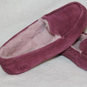NEW IN BOX UGG ANSLEY SUEDE PINK SLIPPERS